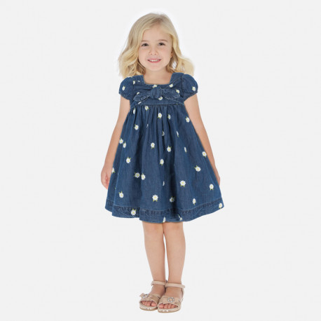 Vestido tejano bordado niña Mayoral