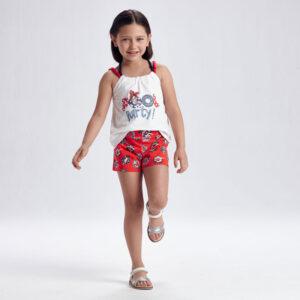 Conjunto short y camiseta de tirantes niña Mayoral