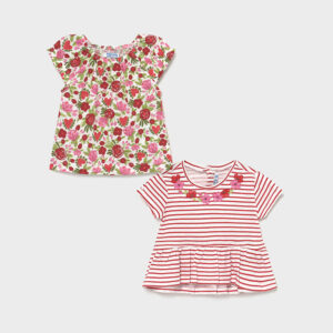 Set de 2 camisetas bebé niña Mayoral